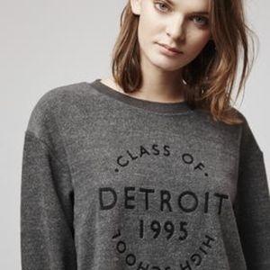 TopShop Detroit Brushed Jersey Sweatshirt